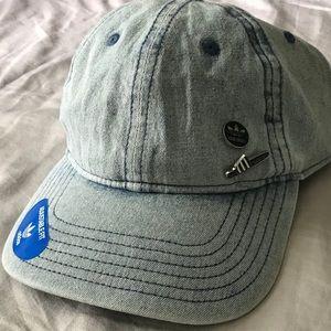 Adidas Denim Dad Hat with Pins